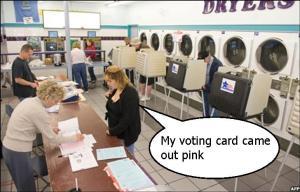 Voting in laundrettes
