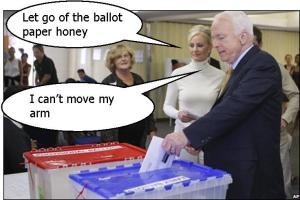 John McCain votes