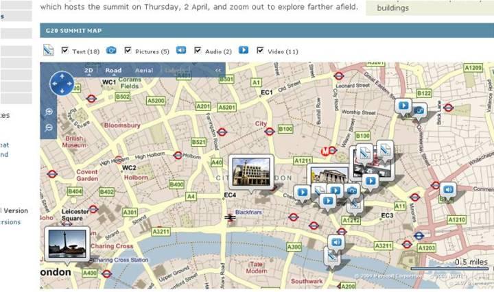 BBC News: interactive map