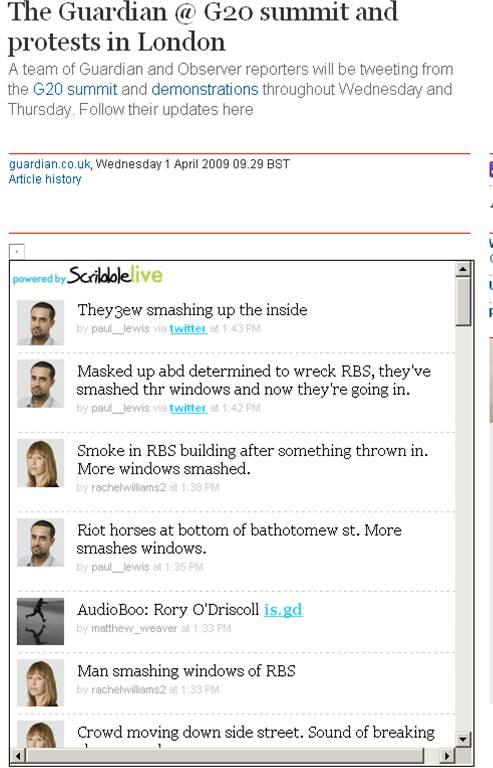 Guardian: twitter reporters