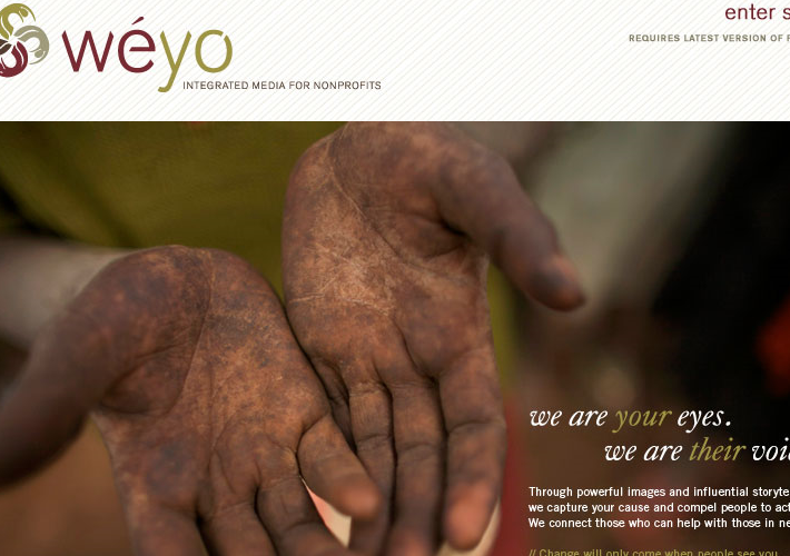 Weyo found a new market in non-profits looking for quality storytelling