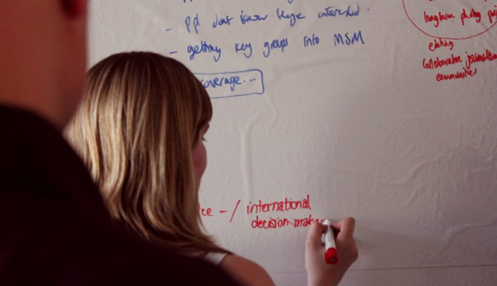 The magic whiteboard. Now any room can be a flipchart.